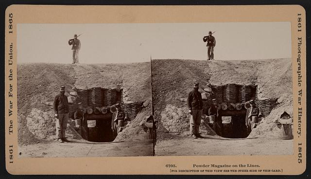 Powder magazine on the lines