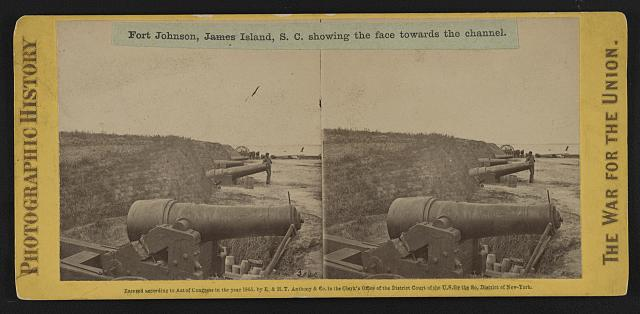 Fort Johnson, James Island, S.C. showing the face towards the channel