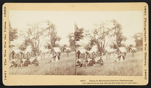 Camp in Monument Garden, Chattanooga