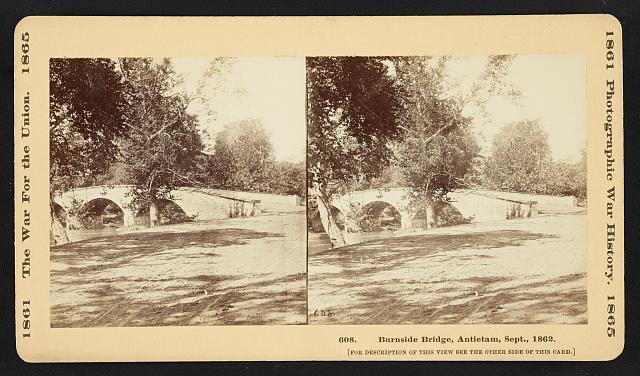 Burnside Bridge, Antietam, Sept., 1862