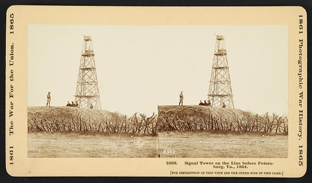 Signal tower on the line before Petersburg, Va., 1864