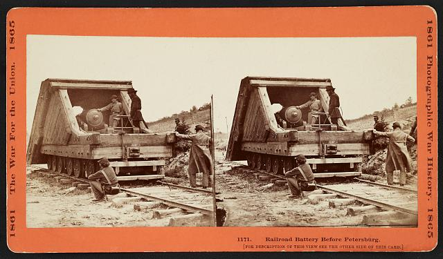 Railroad battery before Petersburg