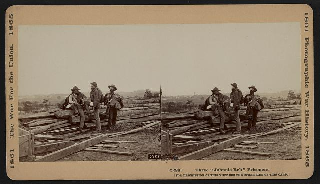 "Three ""Johnnie Reb"" Prisoners, captured at Gettysburg, 1863"