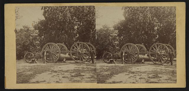 [Sling for heavy artillery. Drewry's Bluff, Virginia]