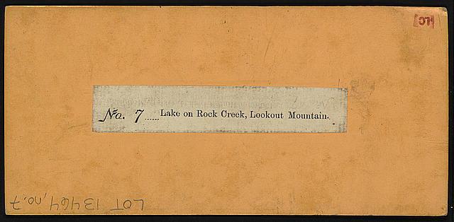 Lake on Rock Creek, Lookout Mountain