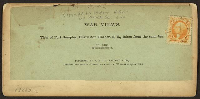 View of Fort Sumpter [sic], Charleston Harbor, S.C., taken from the sand bar, no. 3133