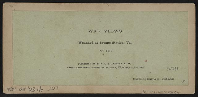 Wounded at Savage Station, Virginia