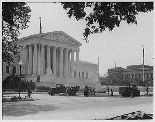 Union Paving Co. At work paving in front of U.S. Supreme Court I