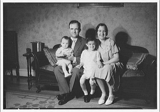Thomas J. Meaney family and children. Meaney family portrait I