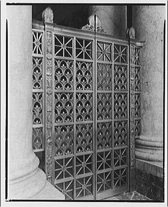 U.S. Supreme Court interiors. Metal grille gate, U.S. Supreme Court