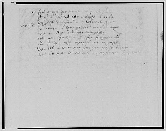 Folger Library copy work. Page from manuscript II