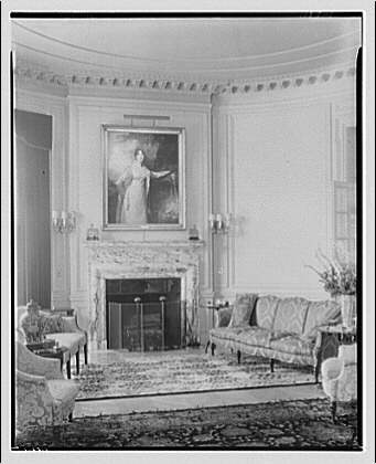 Mr. Butterworth's apartment. Living room, to fireplace, vertical