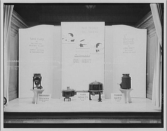 Electric Institute of Washington, Potomac Electric Power Co. building. Oil burner displays, summer 1940 V