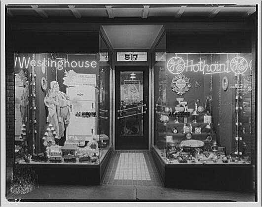 Electric Institute of Washington. Harding store front