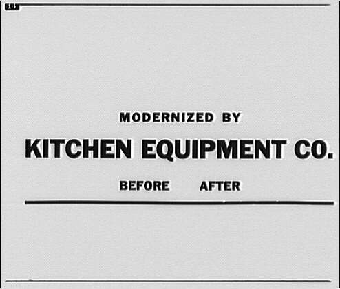 Kitchen Equipment Co. Advertisement text for Kitchen Equipment Co.