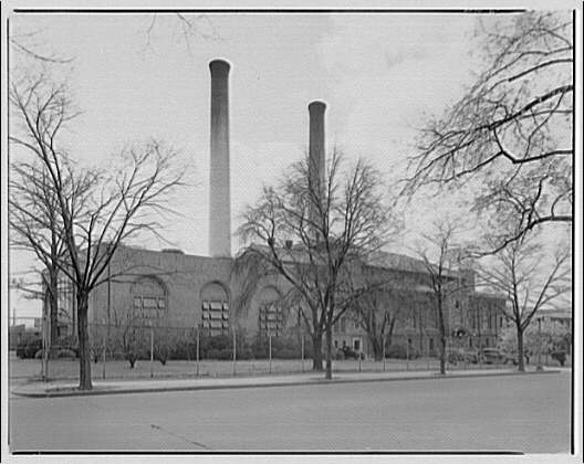 Louis Justement, architect. Capitol Power Plant, New Jersey Ave. and E St. I