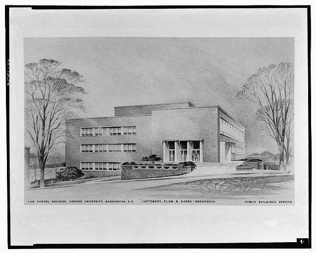 Louis Justement, architect. Law Library, Howard University