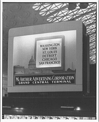 McArthur Advertising Corporation, 2480 16th Street. McArthur display (U.S. Capitol) at Union Station depot