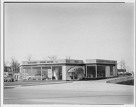 Montgomery Stubbs Motors, 1200 East West Highway, Silver Spring, Maryland. Exterior of Montgomery Stubbs Motors