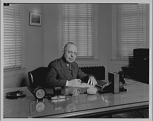 Capitol Radio Engineering Institute. Mr. Ritzkie at his desk VIII