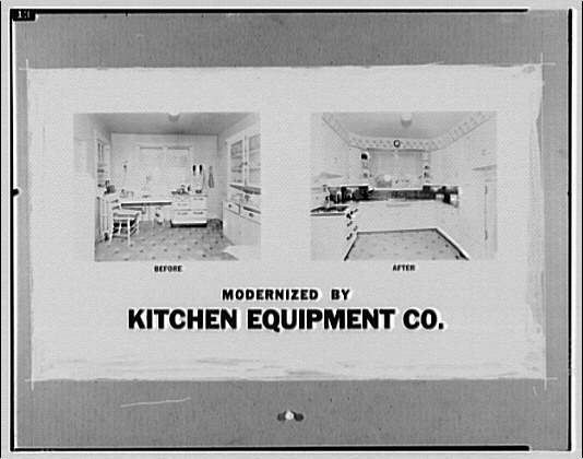 Kitchen Equipment Co. Before and after display poster