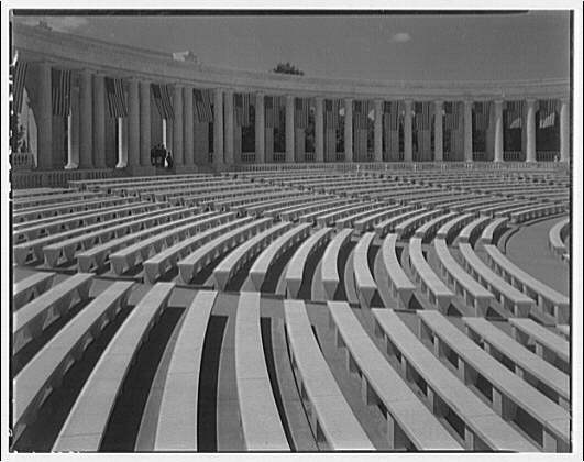 Arlington National Cemetery. Interior of Arlington National Cemetery Amphitheater showing seats