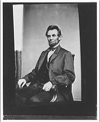 Lincoln Memorial. Portrait of Lincoln I