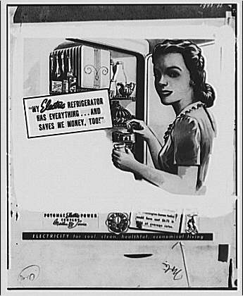 Electric Institute of Washington. Copy of refrigerator advertisement
