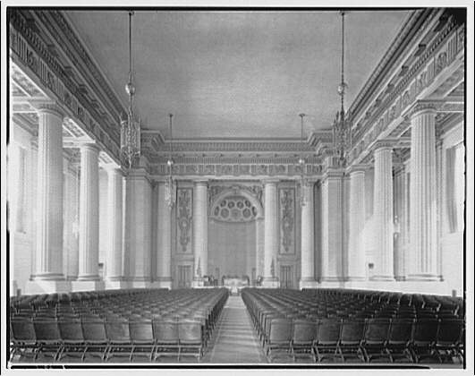 U.S. Customs Service, Departmental Auditorium, and the Interstate Commerce Commission Building. Departmental Auditorium from rear I