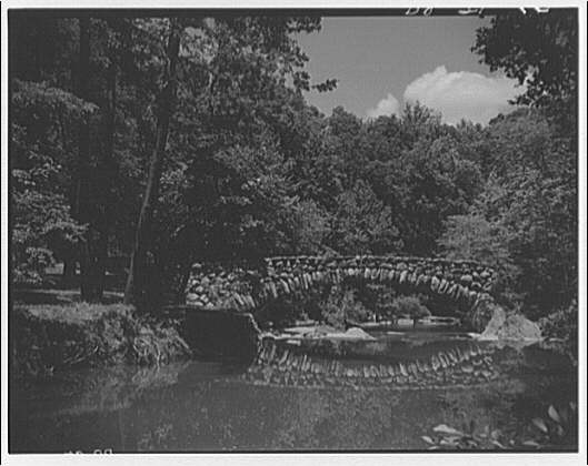 Bridges. Stone bridge with reflection in Rock Creek Park I