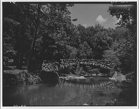 Bridges. Stone bridge with reflection in Rock Creek Park II