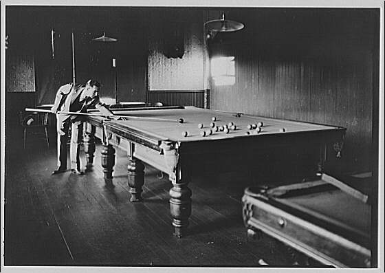 Canadian scenes. Playing pool
