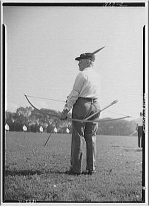 Archers competition. Dr. Robert P. Elmer, Wayne, Pennsylvania, former archery champion