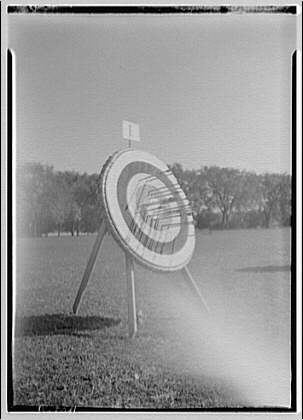 Archers competition. Target for archers competition