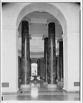National Gallery of Art. Rotunda in National Gallery from east hall