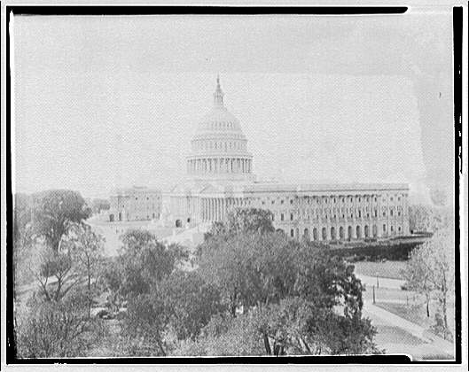 U.S. Capitol exteriors. U.S. Capitol from top of Senate office II