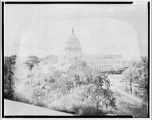 U.S. Capitol exteriors. U.S. Capitol from top of Senate office III