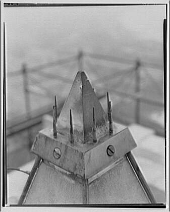Washington Monument. Aluminum cap of Washington Monument with lightning rods I