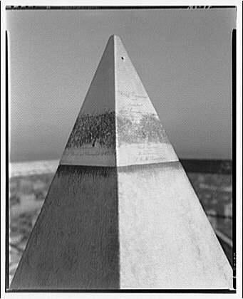 Washington Monument. Cap stone of Washington Monument without lightning rods II