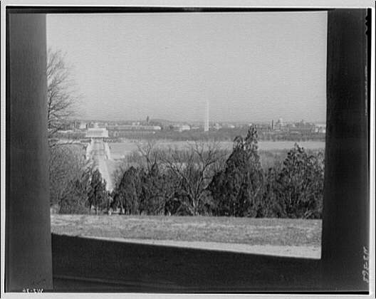 Washington, D.C. View from between columns of Custis-Lee Mansion II