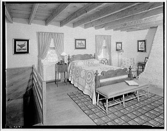 Home of Major Davidson, Mechanicsville, Maryland by Schuyler & Lounsbery. Bedroom in Major Davidson residence II