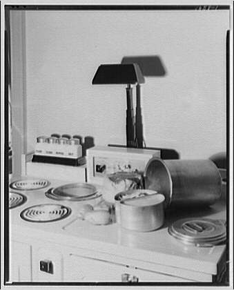 Potomac Electric Power Co. electric appliances. Food prepared to cook on electric range