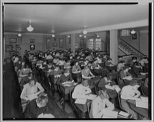 Holton Arms School. Students in classroom at Holton Arms School