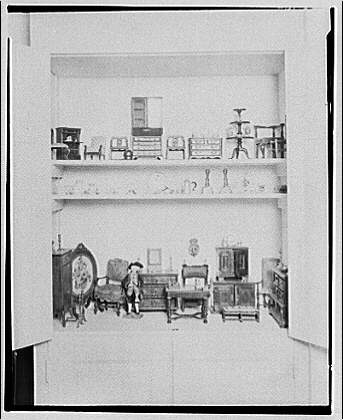 Mrs. Bonsol, residence. Miniature furniture of Mrs. Bonsol V