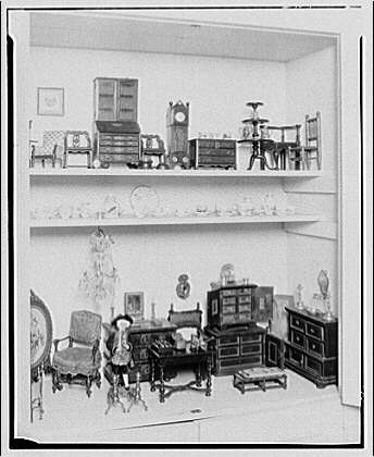 Mrs. Bonsol, residence. Miniature furniture of Mrs. Bonsol XII