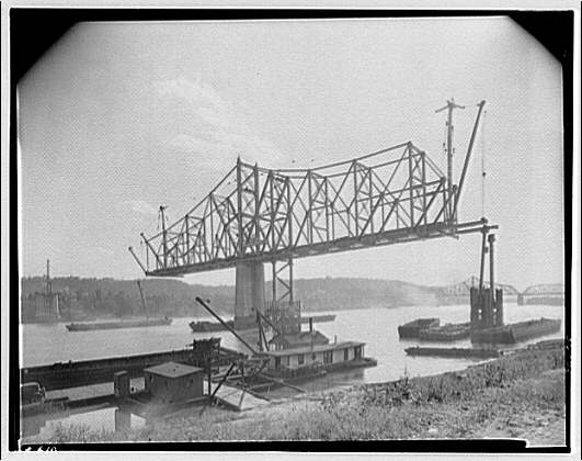 Construction. Construction of a bridge