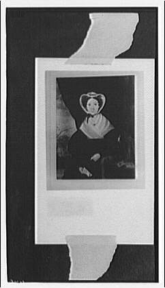 Portrait paintings. Copy photograph of portrait painting of nineteenth-century woman