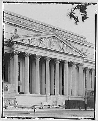 National Archives. Entrance of National Archives