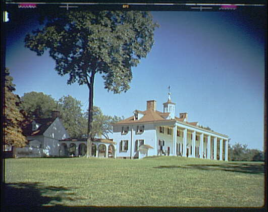 Mount Vernon. View of Mount Vernon mansion II