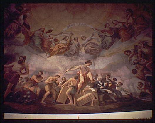 U.S. Capitol paintings. Mercury fresco in U.S. Capitol V